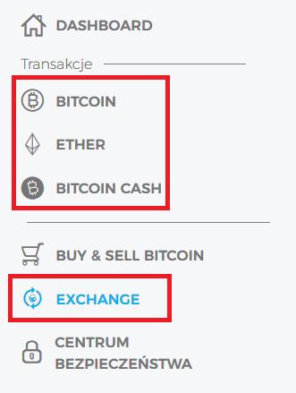 portfel bitcoin opcje