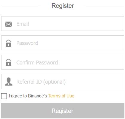 binance rejestracja formularz