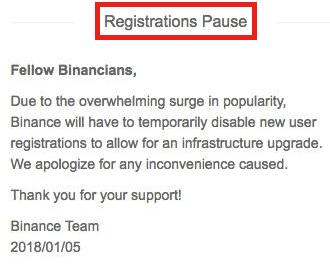binance rejestracja konta