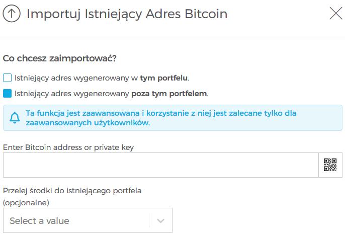 portfel bitcoin oszustwo