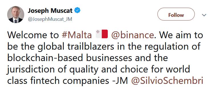 giełda binance malta