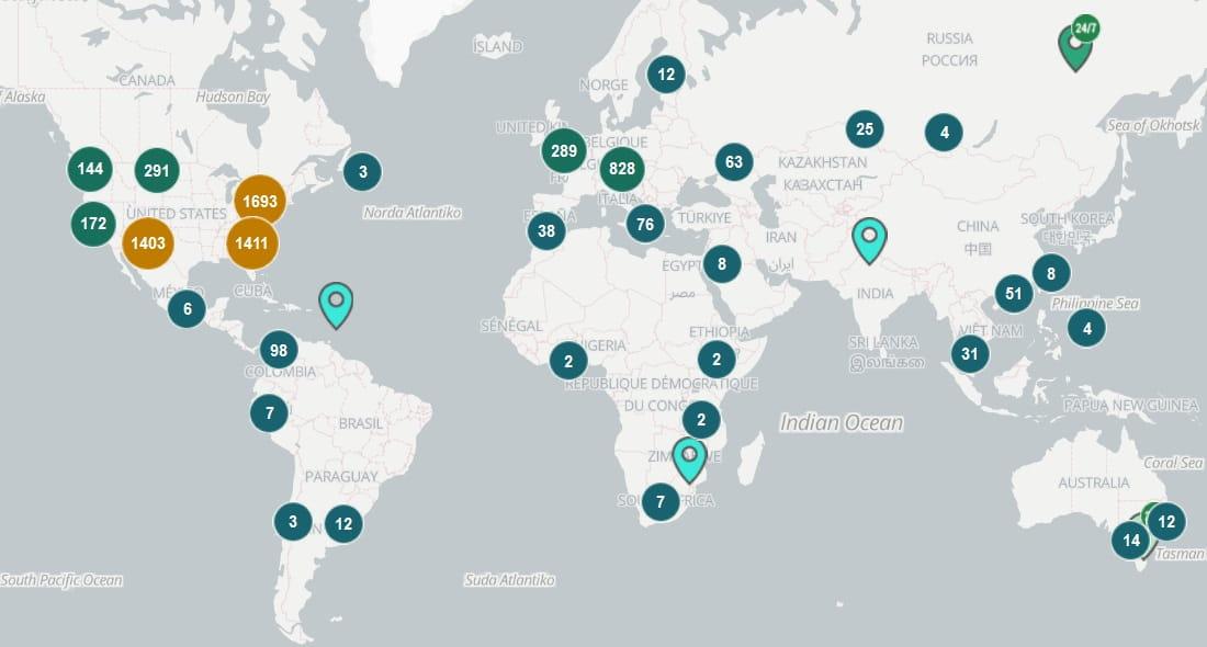 bitomaty w polsce mapa